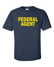 FEDERAL AGENT Police Officer Cop Law Enforcement FRONT & BACK PRINT TShirt 457