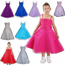 New Flower Girl Party Bridesmaid Wedding Pagent Dress in 8 Colour  From 4-11Year