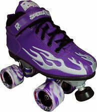 Purple Sure Grip Rock Flame Speed Skates With Twister Wheels Men Size 4-10