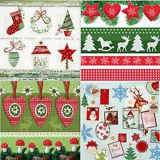 Decoupage Christmas Napkins 33x33 cm Pack of 4 - Various Designs Tea/Lunch/Craft