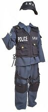 SWAT Police Childrens Dress Up Clothes Kids Halloween Costumes for Boys [327]