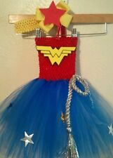 SUPER HERO WONDER WOMAN BATMAN BIRTHDAY dress costume party halloween 0-24 mos