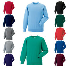 New RUSSELL School Kids Childrens Raglan Sleeve Sweatshirt 12 Colours 1-12 years