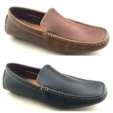Mens Casual Slip On Shoes Loafers Black Brown Blue Red Size 6 7 8 9 10 or 11