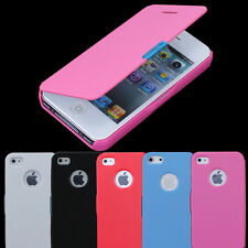 Magnetic Pouch Flip Leather Hard Skin Case Cover Protect For apple iPhone 4G 4S