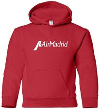 Air Madrid Vintage Logo Spanish Airline HOODY