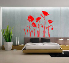 Hand Carvin Poppy Flower Wall Art Wall Stickers living room UK