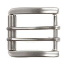 """1 1/2"""" (38 mm) Nickel Free Double Prong Square Roller Belt Buckle"""