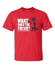 What Does The FOX Say Ring Ding Ding Funny You Tube BLACK FOX  Men's Tee Shirt
