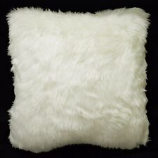 Fm48Aa Cream White Thick Long Faux Fur Pillow Case/Cushion Cover *Custom Size