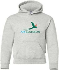 Air Bourbon Vintage Logo French Airline HOODY