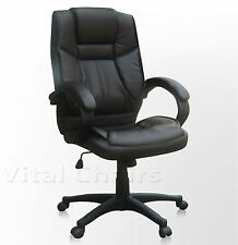 Vital Quality Faux Leather Executive Contemporary Computer Desk Office Chair