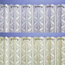 Lace Pleated Vertical Blind Window Net White or Cream