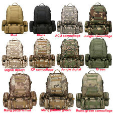 50L Molle Assault Tactical Outdoor Military Rucksacks Backpack Camping Bag