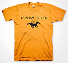 Camp Half Blood T-shirt Youth Kids' Size Orange Halloween costume Shirts