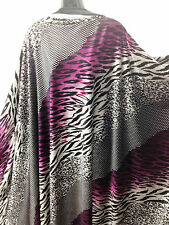 Top quality Spandex Velvet In African Animal Print Dress/Crafts Fabric *New*