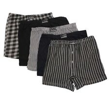 12 x Mens Button Fly Natural Cotton Check Jersey BOXER SHORTS TRUNKS BRIEFS S-5X