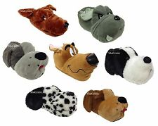 New Mens Womens Kids Novelty Funny Scooby Dog Slippers Grey Brown Dalmatian Gift