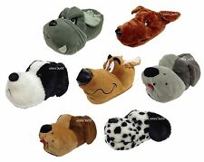 New Unisex Novelty Dog Slippers Textile Casual Indoor Warm Funny Funky Gift Idea