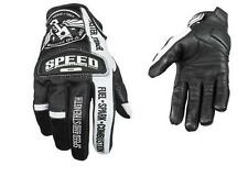 NEW SPEED AND STRENGTH GLOVES BLACK WHITE LEATHER MESH TOP DEAD CENTER ALL SIZES