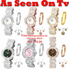 Sekonda Seksy Elegance Ladies Watch Stone Set Bracelet RRP £109.99-£119.99