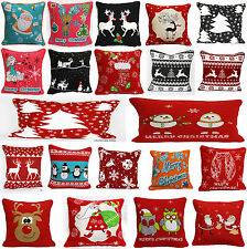 "Christmas Special 100% Cotton Cushion Covers Decorative pillow case Size 18""x18"""