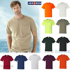 JERZEES Mens Heavyweight Blend 50/50 T-Shirt with a Pocket Tee S-3XL  29MPR-29P