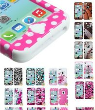 Impact Design Hard Case +Silicone Hybrid Protector TUFF Cover for iPhone 5C