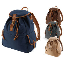 Retro Style Navy Canvas Backpack Rucksack Work or School casual style
