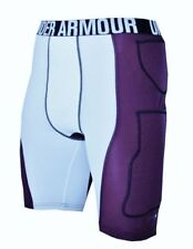 NEW Mens L UNDER ARMOUR MPZ 3.0 Purple Compression Padded Basketball Speed Short