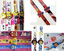 Boys/Kids/Girls Silicone Snap/Slap on FANCY Strap Wrist Watches, Cartoon Watches