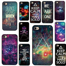Galaxy Space Universe Picture On Back Skin Case Cover for Apple IPhone4 4S 5 5S