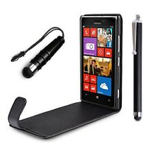 Stylish Leather Flip Case Cover Pouch For Nokia Lumia 925 With Screen Protector