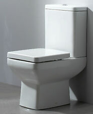 600 Compact Small Mini Short Projection Close Coupled Space Saver Square Toilet