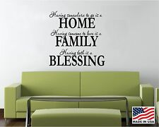 Vinyl Wall Decal Saying Quote Decor Having Somewhere Home Family Blessing FA7