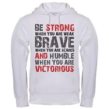 STRONG WEAK HUMBLE VICTORIOUS LIFE QUOTE INSPIRATIONAL POSITIVE hoodie hoody