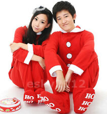 Fleece Adult Unisex Christmas Footed Pajamas Sleepsuit All in one Cosplay
