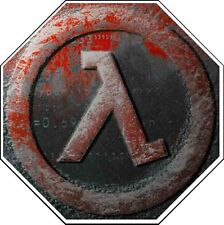 Half Life Video Game Lambda Logo Valve Vinyl Sticker (window, pc, xbox, bumper)