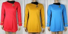 Star Trek Woman's CLASSIC Gold Blue Red Adult Costume uniform TOS