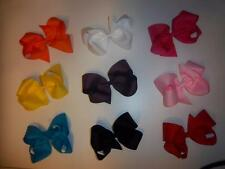 "U CHOOSE 3 --EXTRA EXTRA LARGE girls 7"" inch classic four loop boutique hair bow"