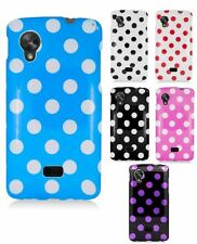 For Google Nexus 5 Girly Multi Color Polka Dot Hard Snap On Cover Case Accessory