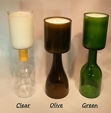 Scented Wine Bottle Candles 12 oz (Customize Your Own: Choose a Color & Scent)