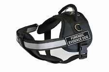 DT Works Chest Support Dog Harness with Velcro Patches FORENSIC EVIDENCE DOG