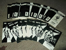 Notts County homes 1969/70 - 1971/72