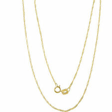 Genuine 10k yellow gold Necklace 1mm Singapore chain **Real Italian Gold Chain**