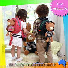 Cute Teddy Baby Toddler Safety Harnesses Rein Strap Backpack Rucksack Walker