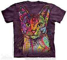 Colorful Abyssinian Egyptian Cat The Mountain Adult Size T-Shirts