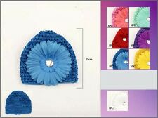 Wholesale Lot 1Dz Crochet Kufi - Beanie For Babies/Toddlers - Flower (#EWCK2003)