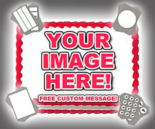 YOUR IMAGE PHOTO LOGO CUSTOM Edible Cake Topper Frosting Sheet Personalized!