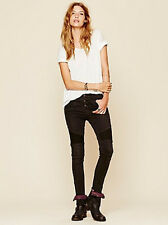 NWT Free People Seamed Moto mid rise Skinny jeans in moonlight
